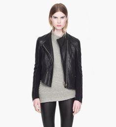 Blistered Leather Jacket   Helmut Lang