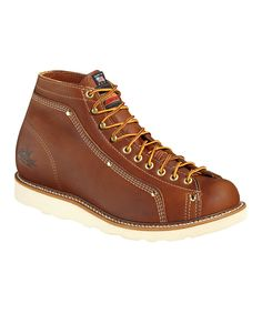845a02c41b68c Take a look at this Thorogood Tobacco Lace-To-Toe Roofer Leather Boot -