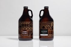 Fort Point Beer Co. by Manual, United States. #craft #beer #packaging #growler