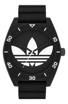Free shipping and returns on adidas Originals 'Santiago XL' Silicone Strap Watch, 50mm at Nordstrom.com. On-point with a retro look, a cool watch offers a mash-up of sporty style and inimitable branding.