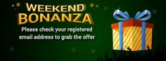 Weekend Bonanza Offer at #classicrummy  Get exciting #rummy bonus offers every weekend.Grab Now https://www.classicrummy.com/weekend-bonanza-offer?link_name=CR-12