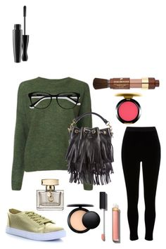 """greenish..."" by klhaudita-leto on Polyvore featuring Étoile Isabel Marant, River Island, Seven7 Jeans, Yves Saint Laurent, Lancôme, MAC Cosmetics, Chanel, Gucci and EyeBuyDirect.com"