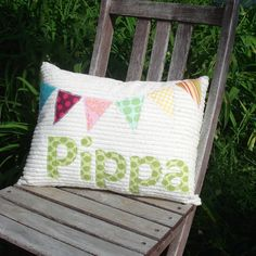 Bunting Flags Personalized Pillow.