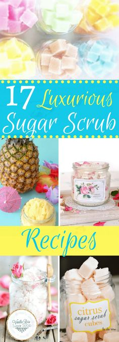 17 Luxurious DIY Sugar Scrub Recipes - 17 Luxurious DIY Sugar Scrub Recipes There's nothing more luxurious than your skin after using homemade sugar scrubs! And the best thing of all is that most DIY sugar scrub recipes are so easy to make! Body Scrub Recipe, Diy Body Scrub, Sugar Scrub Recipe, Diy Scrub, Zucker Schrubben Diy, Mac Cosmetics, Homemade Cosmetics, Diy Beauté, Diy Crafts