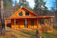 Small Log Homes | This adorable 2BR/2BA LOG CABIN built in 2006 has a metal roof so you ...
