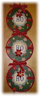 DIY HO HO HO CD ornament #Christmas #frontdoor #recycling
