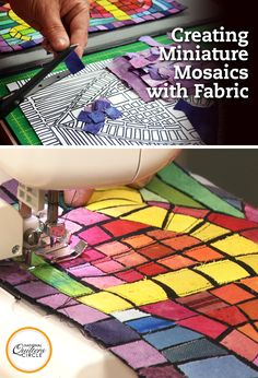 In this class you will learn all about making quilts that look like stone or tile mosaics, including step-by-step instructions for several easy, eye catching designs for you to work with. Quilt artist, author and instructor Heather Thomas will show you the designs, as well as how to make simple cut outs to use as a fabric placement guide. You will get the chance to look at various iron-on adhesives and how to prepare your fabrics for use.