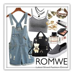 """""""ROMWE 3"""" by ziandra ❤ liked on Polyvore featuring Gucci, NARS Cosmetics and Bobbi Brown Cosmetics"""