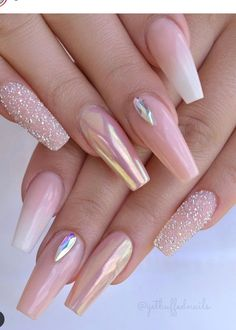 54 Beautiful Mismatched nail art design – neutral nails, nude nails ,nail acrylic ,nails Source by townsendrylee Neutral Nails, Nude Nails, My Nails, Coffin Nails, Neutral Art, Pink Chrome Nails, Rose Gold Nails, Best Acrylic Nails, Acrylic Nail Designs