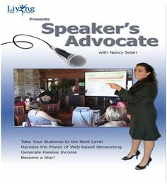 In The Speaker's Advocate, you will learn to speak from the heart. You will become a great storyteller who engages audiences with humor and memorable anecdotes as well as a compelling message. You will also learn the ins and outs of how to set up a speaking business including creating a team of people who find bookings and manage the day-to-day functions of the business, allowing you to prepare, speak to audiences and create new material.