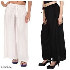 Checkout this latest Palazzos Product Name: *New Fabulous Rayon Women's Palazzos Combo * Fabric: Rayon Waist Size: Up To 28 in To 42 in (Free Size ) Length: Up To 39 in Type: Stitched Description: It Has 2 Pieces Of Women's Palazzos  Pattern: Solid Country of Origin: India Easy Returns Available In Case Of Any Issue   Catalog Rating: ★4 (755)  Catalog Name: Lasafiya Fabulous Rayon Women's Palazzos Combo CatalogID_558946 C79-SC1039 Code: 363-3962463-498