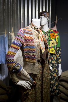 Make Do and Mend #Knitwear as featured in the exhibition Image (c) Fashion and Textile Museum www.ftmlondon.org