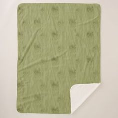 The Look of Bamboo in Olive Moss Green Wood Grain Sherpa Blanket - wood gifts ideas diy cyo natural