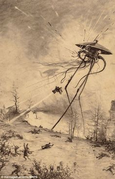 The drawings were an instant hit with readers and went on to be used in numerous reprints of The War of the Worlds