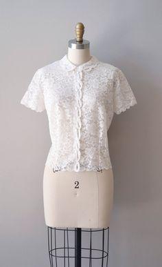 1950s lace blouse