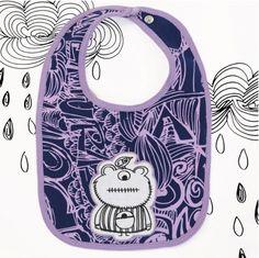 Purple monster bib - hardtofind. $12.00 #hardtofind #hard #find #gift #present #holiday