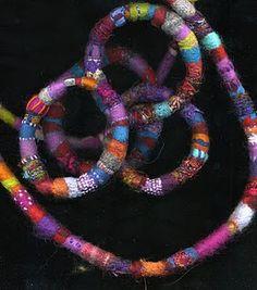 Felted necklaces by Scottish textile artist Morag Lloyds