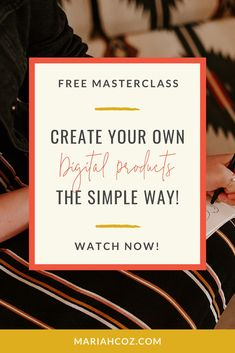 Learn the 7 types of digital products that are super quick and easy to create (no video or fancy tech platform needed!) - plus 4 more key elements of selling digital products for the online entrepreneur. #entrepreneurideas #passiveincome #mariahcoz
