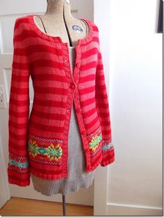 f1c5e5744 Striped Cardigan with Colorwork Knitting Blogs
