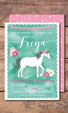 Horse Invitation Pony Birthday Party Invite Invitations Ideas