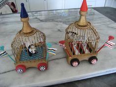 Circus cars made by Jane Corbett.