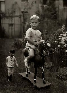 August Sander, Middle-class Child, c. 1925 Boys can have dolls too!!