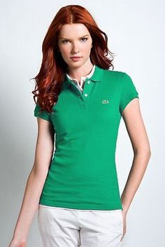 Brand New  Authentic Factory Overrun Lacoste Women's Short Sleeve Non-stretch Pique Polo Color: Emerald Green Php 1,500