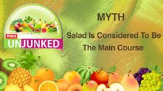 Food Myths || Salad Is Considered To Be The Main Course