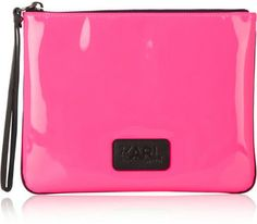 Karl Lagerfeld Neon patent leather pouch Karl Lagerfeld