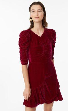 Ruched Velvet Dress. Rebecca Taylor 62090e9aa