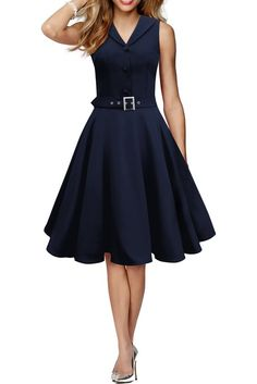 Black Butterfly 'Luna' Retro Clarity 50's Dress: Amazon.co.uk: Clothing