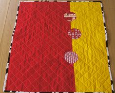 Back of Tufted Tweets quilt by Little Island Quilting, via Flickr