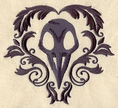 Bird Skull | Urban Threads: Unique and Awesome Embroidery Designs