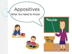 Appositives and Appositive Phrases PowerPoint. Animated graphics and ...