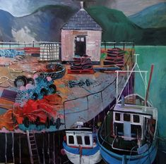 Artists Fishing Boats, Claire, Anna, Paintings, Artists, Landscape, Scenery, Paint, Painting Art