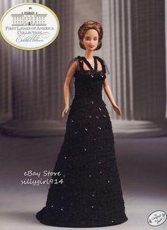 """WILSON""~Crochet PATTERN fits BARBIE FASHION DOLL~Annie's FIRST LADIES"