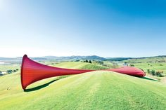 Anish Kapoor sculpture blends fabric and steel in New Zealand