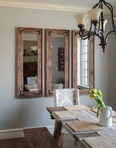 DIY Rustic Wall Mirrors Made From Cheap Plastic Framed Full Length Walmart Target Ect