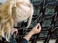 Susanne Sjögren, artist and master of upholstery. Foteviken Station, Sweden. She is one of the best!