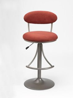 Hillsdale Venus Swivel Bar Stool with Flame Suede 4210-825