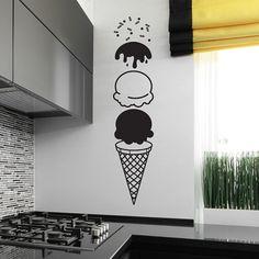 Sticker cornet de glace ice cream pour cuisine