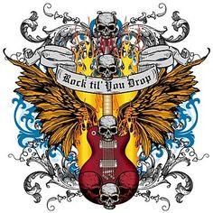 Rock & Roll tattoo idea