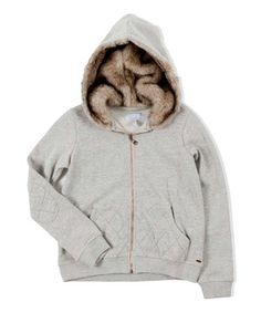 Another great find on #zulily! Heather Gray Faux Fur-Lined Hoodie by O'Neill #zulilyfinds