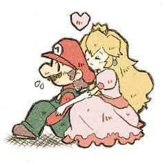Mario and Princess Peach.