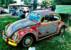 Neat hand-painted car