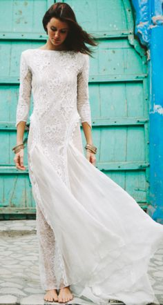 long sleeve beauty #wedding #dress