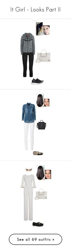 """It Girl - Looks Part II"" by gracebeckett ❤ liked on Polyvore featuring adidas, NIKE, Balenciaga, Ström, Replay, Jimmy Choo, Saloni, Tom Ford, Smoke x Mirrors and 7 For All Mankind"