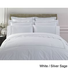 Egyptian Cotton Collection Double Line Embroidered Duvet Cover Set with Shams Sold Separately | Overstock™ Shopping - Great Deals on Duvet Covers