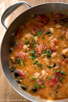 Chicken Marengo Recipe - a saucy chicken dish you can make under 30 minutes! It's a fabulous comfort food!