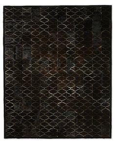 Etched Moroccan Tile Cowhide Rug | Restoration Hardware